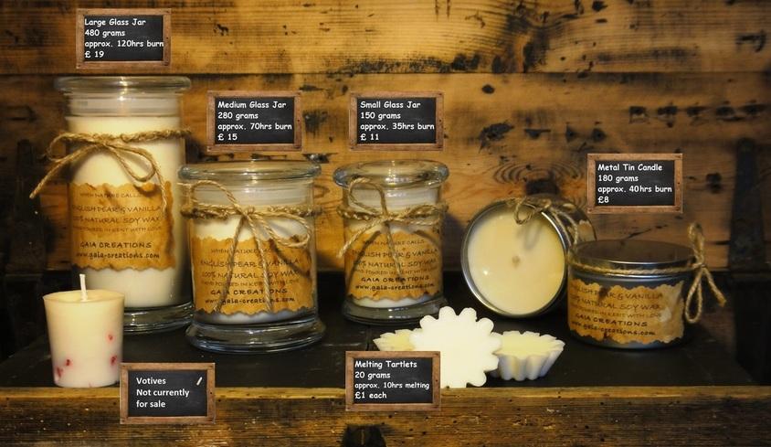 Gaia Creations vegan candles