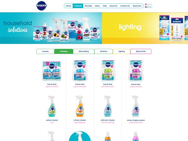 screenshot of ecozone website