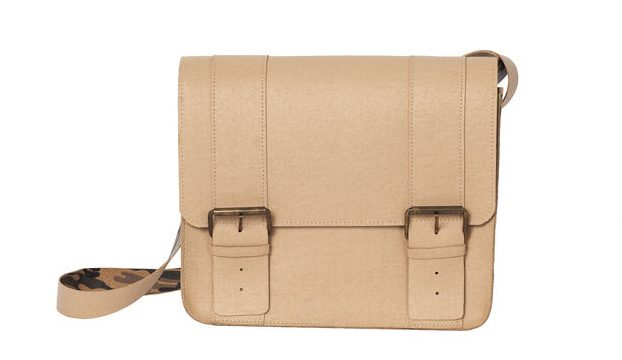 beige cork satchel bag