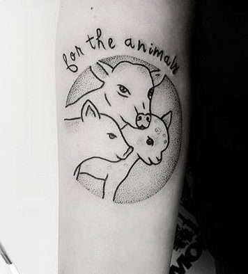 for the animals arm tattoo