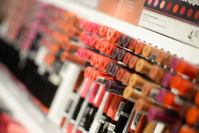 lipsticks in a shop