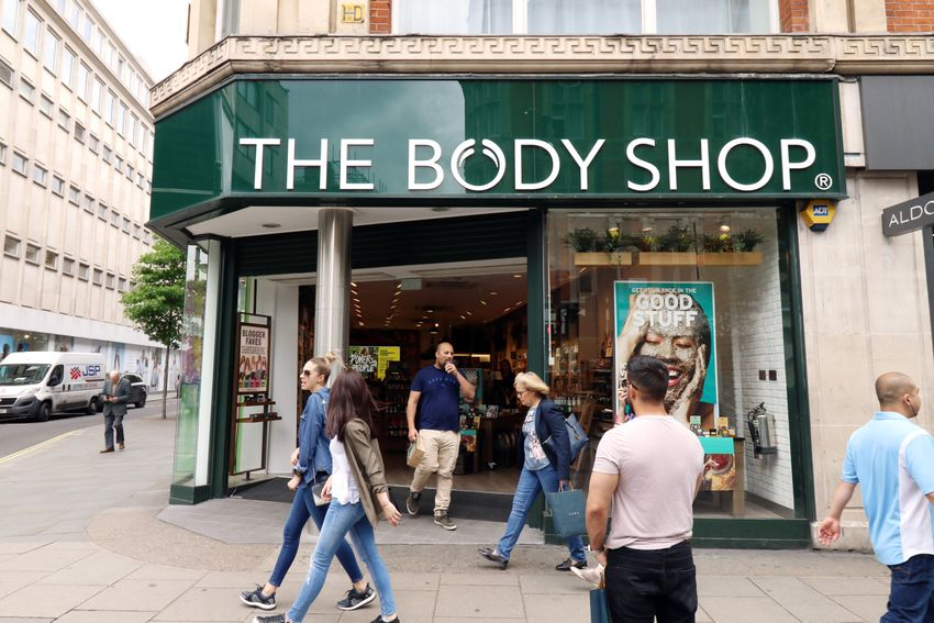 storefront of the body shop